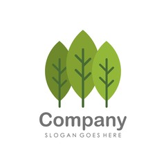 Creative and unique pine tree logo vector