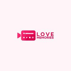 Memories collection, Love Videography logo template designs