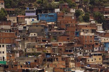 Slum poverty and misery Caracas,Venezuela