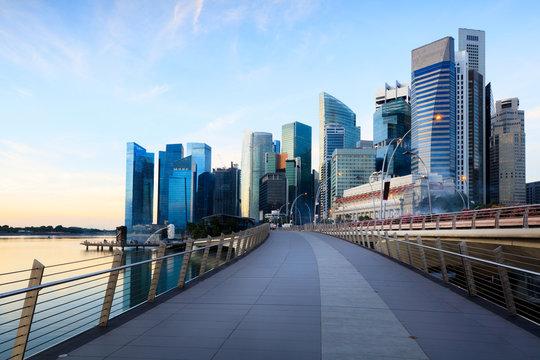 Singapore central financial district