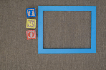 Photo frame for 2 year old boy or girl