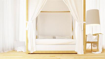 bedroom clean design - 3d rendering