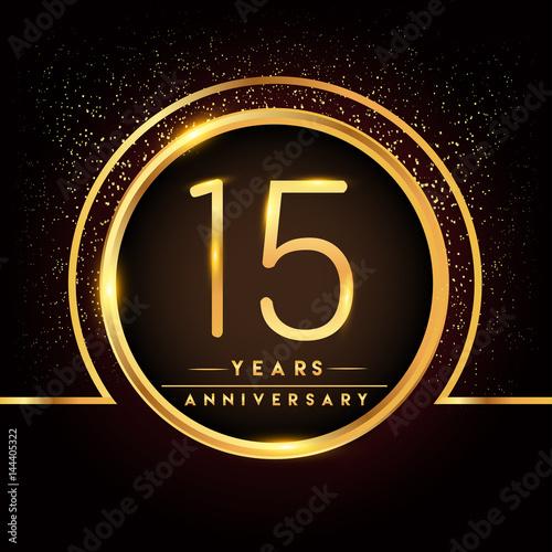 Fifteen Years Birthday Celebration Logotype 15th Anniversary Logo
