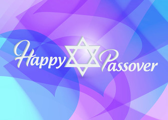 Happy passover sign card illustration design