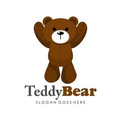 Cute teddy bear illustration full vector