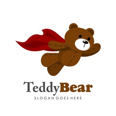 Cute teddy bear illustration full vector
