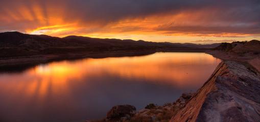 Magnificent Sunset, Horsetooth Reservoir, Colorado, USA