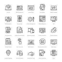 Web and SEO Line Vector Icons 3