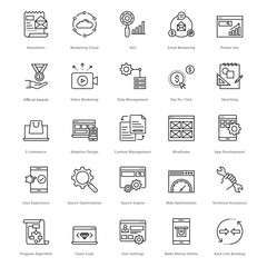 Web and SEO Line Vector Icons 5