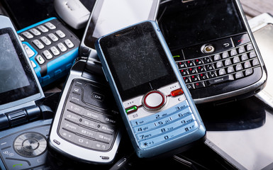 Old phones - electronic waste