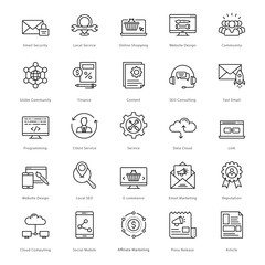 Web and SEO Line Vector Icons 11