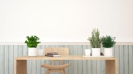 workspace or restaurant - 3D Rendering