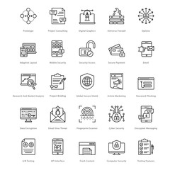 Web and SEO Line Vector Icons 21