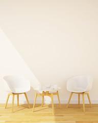 coffee shop or Restaurant vertical illustration - 3D Rendering
