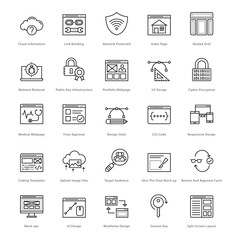 Web and SEO Line Vector Icons 36