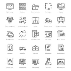 Web and SEO Line Vector Icons 44