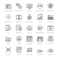 Web and SEO Line Vector Icons 47