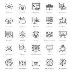 Web and SEO Line Vector Icons 48