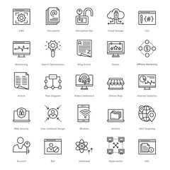 Web and SEO Line Vector Icons 49