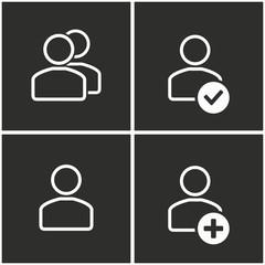 Account icons set.