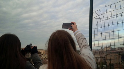 fotografare il panorama di Roma