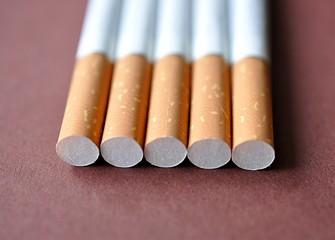 Close-up view on cigarettes