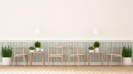 coffee shop or restaurant - 3D Rendering