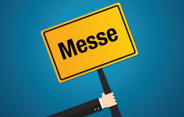 Messe Schild Flat Design