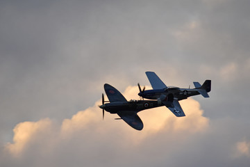 Spitfire and Mustang World War two fighters