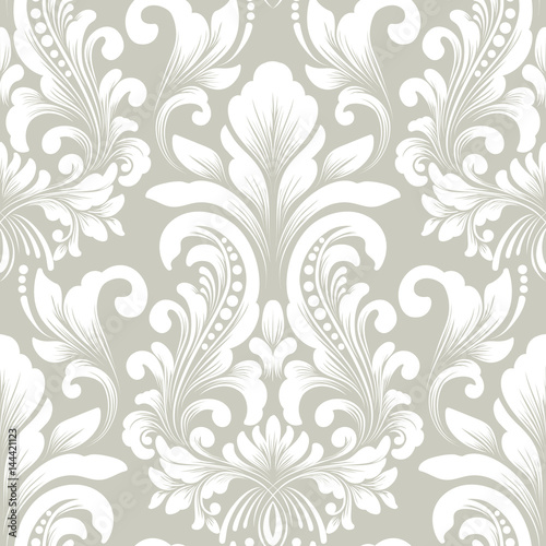 Vector Damask Seamless Pattern Element Classical Luxury Old