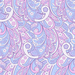 Ethnic floral pattern. Seamless vector background.