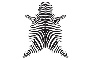 Zebra skin Texture. Vector Illustration.