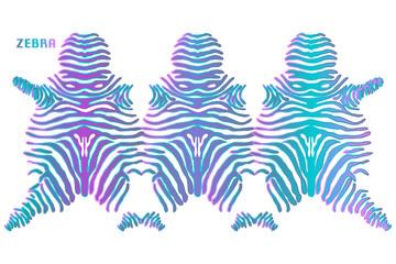 Zebra skin Texture. Vector Illustration.
