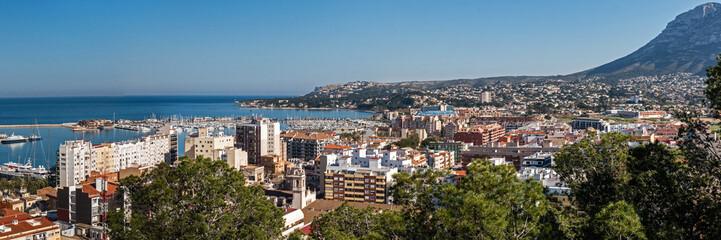 Panorama Blick auf Denia Spanien