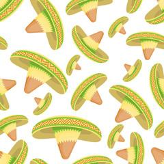 Sombrero seamless pattern