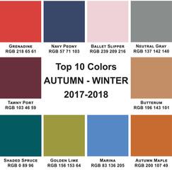 Top 10 Colors Autumn-Winter 2018