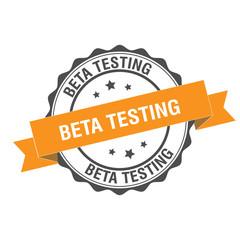Beta testing stamp illustration