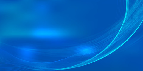 Blue Curve Line abstract background wallpaper