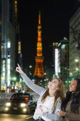Freundinnen in Tokyo