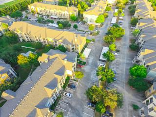Apartment garage aerial