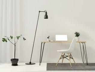 Minimalistic interior  of workplace