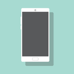 Smartphone vector illustration. Phone flat icon