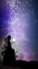 The magical fairy music silhouette art photo manipulation