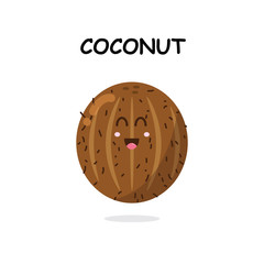 coconut character in white background