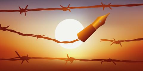 Liberte d'expression - Coucher de soleil