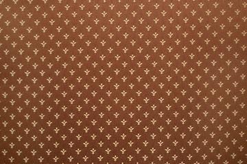 Royal lily or fleur-de-lis pattern on cloth