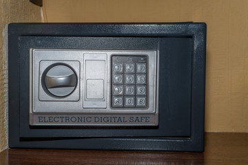 Close up of combination safe