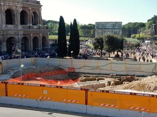 Roma - Cantiere Metro al Colosseo