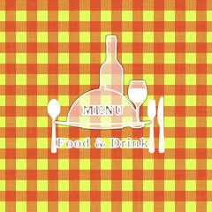Cover template for restaurant menu tablecloth stencil