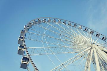 Ferris Wheel And Blue Sky No Cloud